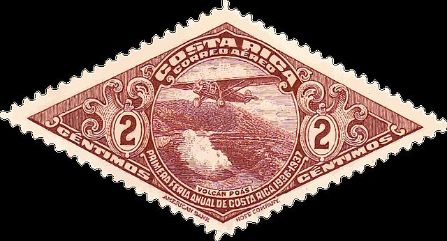 známka Kostariky